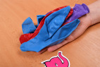 Nafukovací balonky Big Boobs – focení v prodejně Růžový Slon Havířov