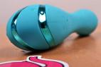 Silikonový vibrátor Tiffany Dream – detail lesklých proužků