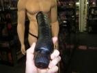 Vibrátor gelový černý,  velikost 20 cm