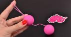 Venušiny kuličky Pinky Balls, v ruce