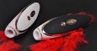 Satisfyer Luxury podtlakový vibrátor, růžová a černá varianta