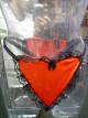 Prádlo ženy kalhotky červené srdce S-L
