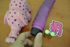 Vibrátor  gelový fialový 22*4.5 cm