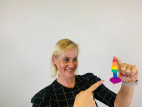 Anální kolík s přísavkou Rainbow Euphoria, Verča