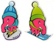 Magnet Růžový slon ZIMA