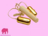 Vibrační vajíčko Double GOLD