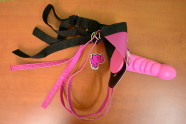 Strap-on Pink Silicone s postrojem
