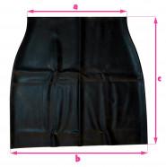 Latexová sukně - rozměry