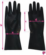 Latexové rukavice - rozměry