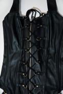 Šněrovací kožený korzet s kalhotkami