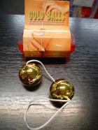 Kuličky plast tvrdé zlaté