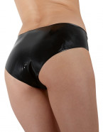 LateX kalhotky s dildem Glossy, zezadu
