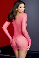Síťované šaty Hot Pink