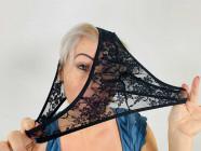 Černé slipy Lace Secret