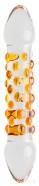 Skleněné Dildo Orange (17 cm)