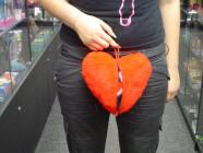 Žertovný polštář malý chlupatá vagína