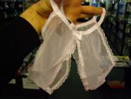Kalhotky vykrojené bílé S-L