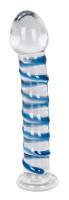Skleněné dildo Arts Clair Bleu (17 cm)