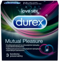 Durex Mutual Pleasure – vroubkované kondomy (3 ks)