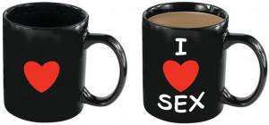 Žertovný hrníček I Love Sex (250 ml)
