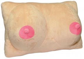 Plyšový polštářek Boob Squeeze