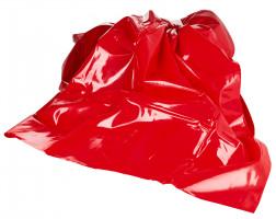 Rudé PVC prostěradlo Dirty Mind (203 x 226 cm)