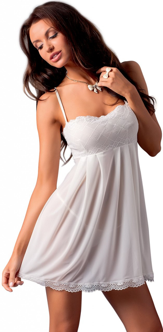Krémová košilka Nicolette, XXL–XXXL