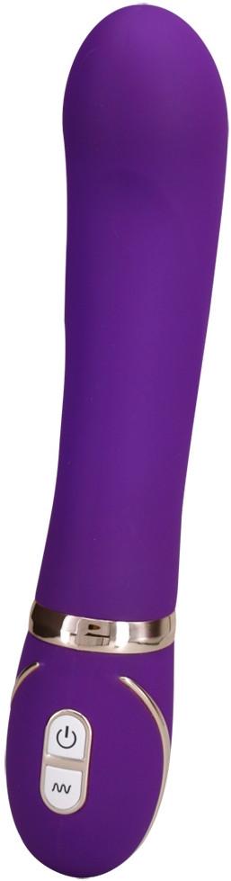 Vibrátor s dvojitým silikonem Front Row Purple + dárek Dezinfekční sprej 75 ml