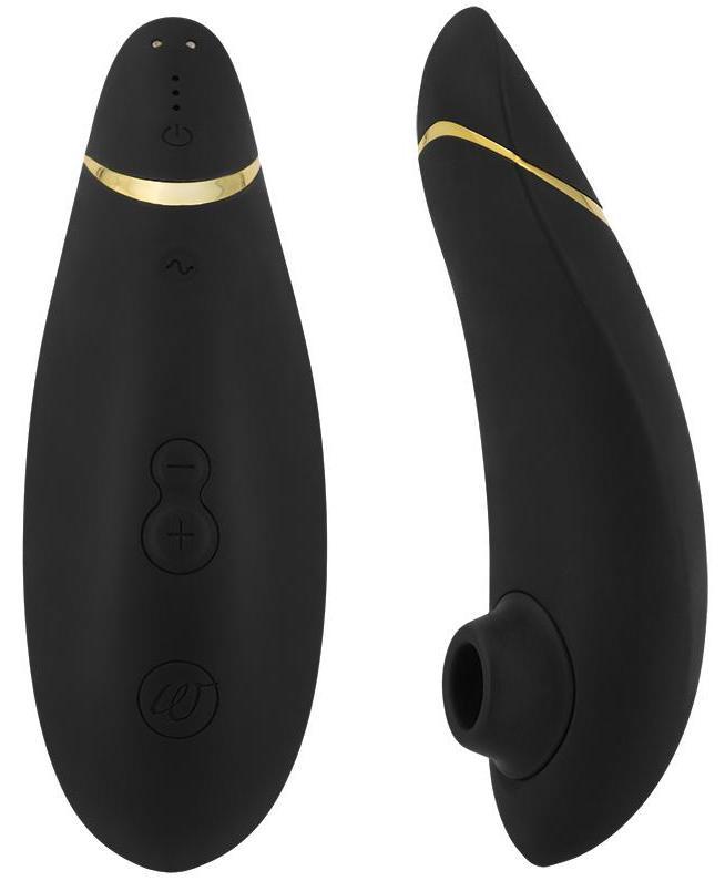 Womanizer Premium podtlakový vibrátor, černý + dárek vibrátor G-Mate